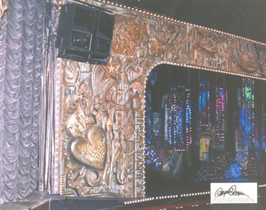 False Proscenium Frame created from carved foam and Sculpt or Coat