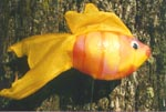 Rod Fish puppet constructed with Sculpt or Coat